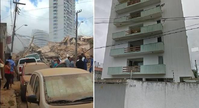 Prédio residencial desaba em Fortaleza, no Ceará