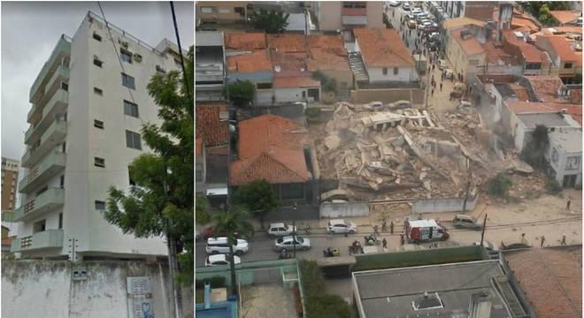 Queda de prédio deixa um morto e dois feridos em Fortaleza, no Ceará