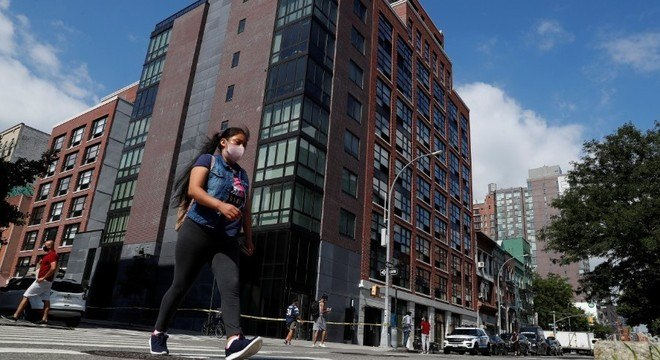 O empresário foi morto em seu apartamento neste prédio de luxo em Nova York