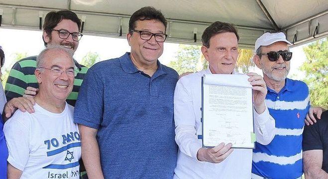 Prefeito Crivella assina termo que autoriza construção do Museu do Holocausto