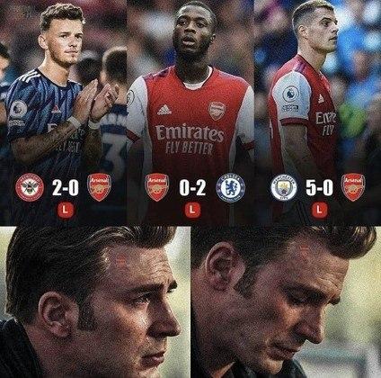 Premier League: os melhores memes de Manchester City 5 x 0 Arsenal
