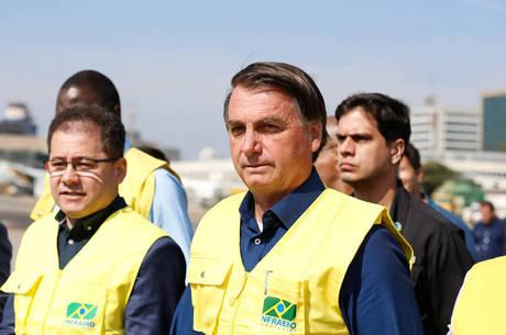 Bolsonaro esteve no aeroporto de Congonhas (SP) hoje