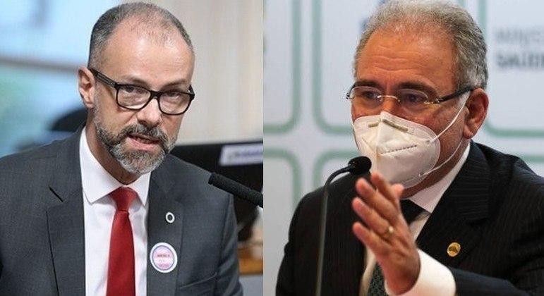 O diretor-presidente da Anvisa, Antônio Barra Torres, e o ministro da Saúde, Marcelo Queiroga