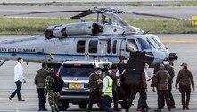 Helicóptero com presidente da Colômbia a bordo é atacado a tiros