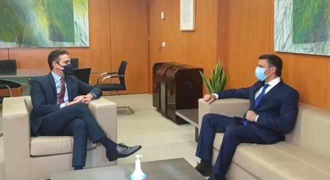 Presidente da Espanha, Pedro Sanchéz recebe opositor venezuelano Leopoldo López