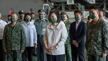 Presidente de Taiwan diz que não busca confronto militar com China