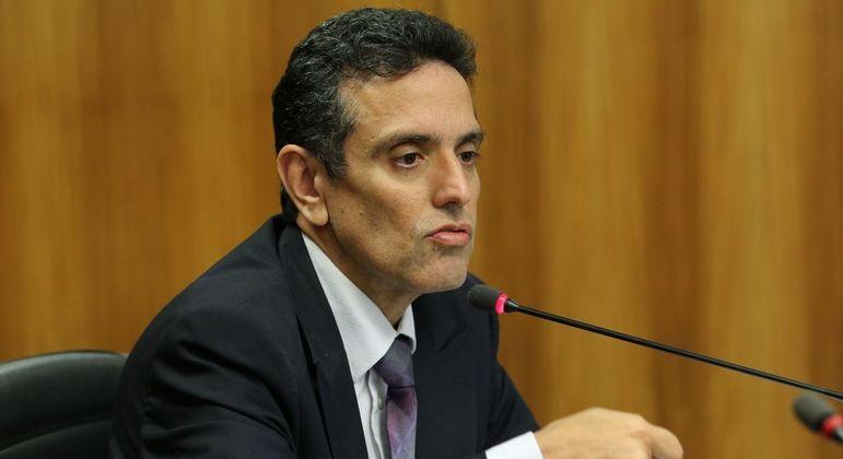 Presidente do INSS, Leonardo José Rolim Guimarães, durante audiência na Comissão de Fiscalização Financeira e Controle da Câmara