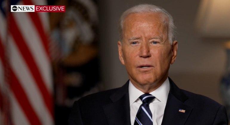 Presidente dos EUA, Joe Biden, em entrevista para a rede ABC News