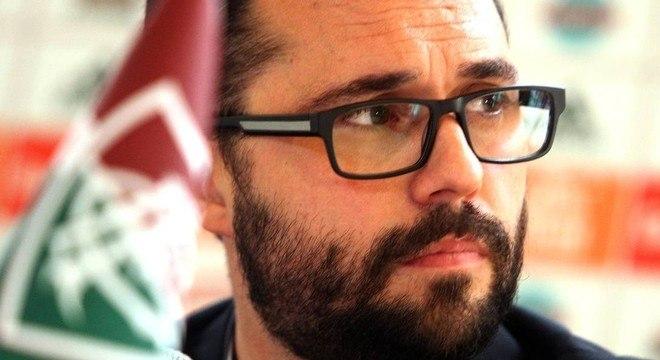 O presidente do Fluminense, Mario Bittencourt, saiu derrotado do STJD
