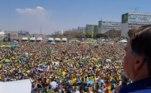 Presidente Jair Bolsonaro discursa durante manifestação pelo 7 de Setembro