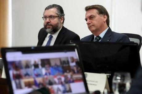 Bolsonaro e ministro acompanharam reunião do G20