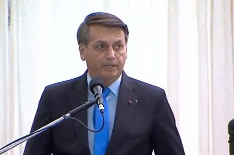 Presidente Jair Bolsonaro em cerimônia do Exército