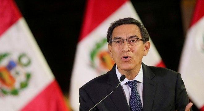 Vizcarra voltará a enfrentar uma votação de impeachment nesta segunda