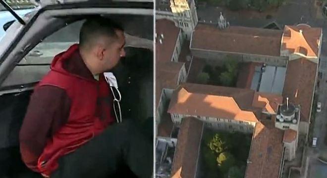 Suspeito teria participado de um assalto ao escritório do Mosteiro São Bento