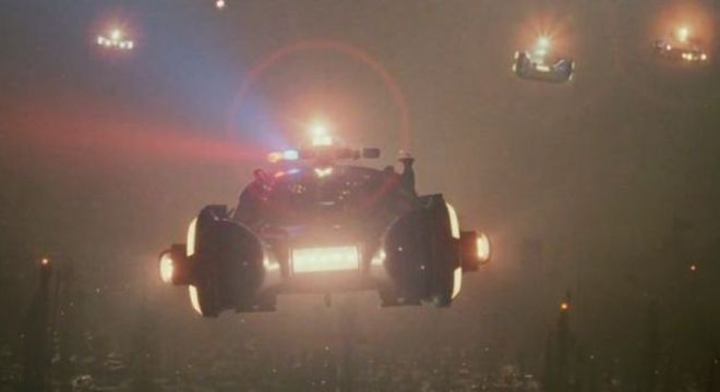 Flying cars in Blade Runner