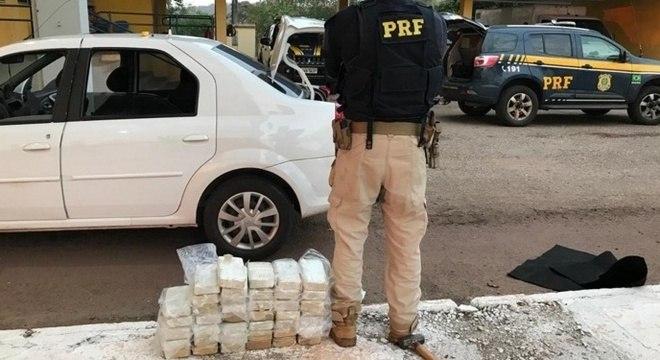 PRF apreende 41 kg de cocaína em MIranda (MS)
