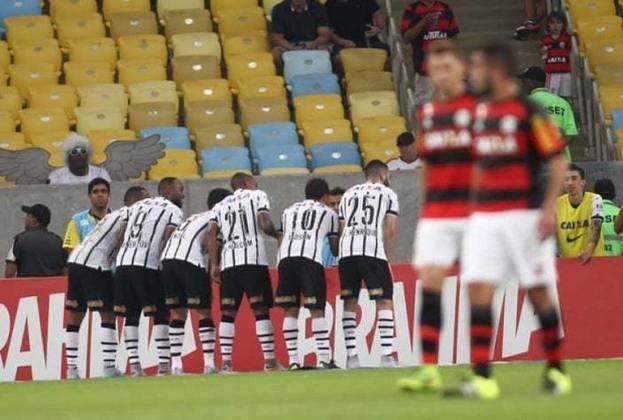 Primeira vitória no Novo Maracanã: Flamengo 0 x 3 Corinthians - 12 de julho de 2015 - Campeonato Brasileiro. Uma das vitórias mais emblemáticas do título brasileiro de 2015, o Timão atropelou o Fla com gols de Uendel, Elias e Jadson, e venceu pela primeira vez no estádio após a reforma para a Copa do Mundo de 2014.