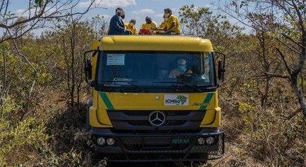 Caminhão de bombeiro que será usado no Parque Nacional de Brasília