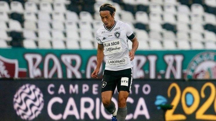 Primeiro clássico - Em julho, o japonês entrou em campo pela semifinal da Taça Rio, segundo turno do Campeonato Carioca, diante do Fluminense. Esse foi o primeiro clássico do meio-campista com a camisa Alvinegra. Vale destacar quer a partida terminou 0 a 0, no estádio Nilton Santos.