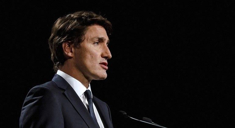 Primeiro-ministro canadense Justin Trudeau durante debate