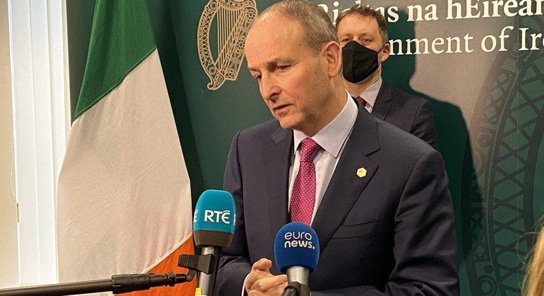 O primeiro-ministro da Irlanda, Micheál Martin