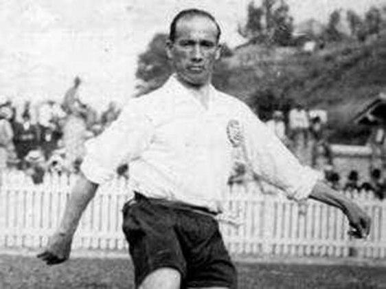 Principais jogadores da Seleção Brasileira em 1922: Neco (foto), Heitor e Amílcar Barbuy