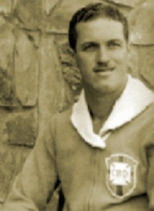 Principais jogadores da Seleção Brasileira em 1949: Barbosa, Ademir de Menezes (foto) e Jair Rosa Pinto