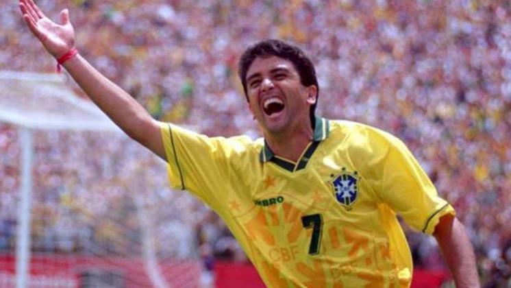 Principais jogadores da Seleção Brasileira em 1989: Mauro Galvão, Romário e Bebeto (foto)