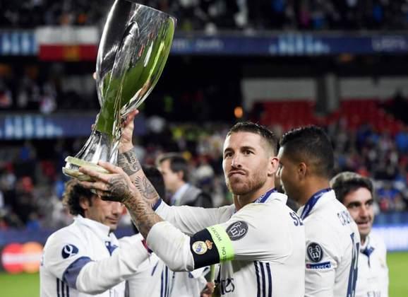 Principais títulos de Sergio Ramos na década: Liga dos Campeões da UEFA: 2013–14, 2015–16, 2016–17, 2017–18; Mundial de Clubes da FIFA: 2014, 2016, 2017, 2018; Eurocopa: 2012