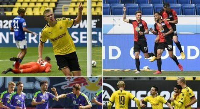 Principal resultado da rodada foi o 4x0 do Borussia Dortmund no clássico diante do Schalke 04