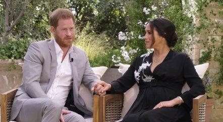 Harry e Meghan em entrevista a Oprah