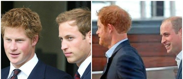 Harry e William carregam no DNA a calvície do pai, o príncipe Charles