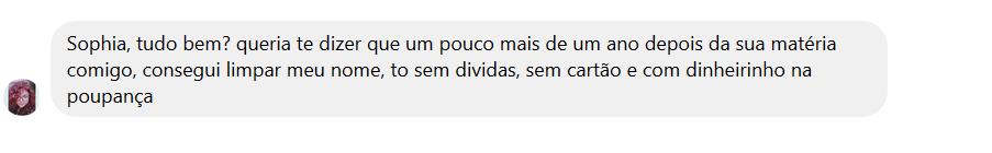 Mensagem da Juliana Almeida