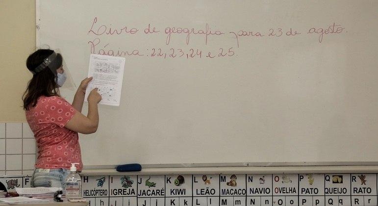 Remuneração anual dos professores no Brasil chega a ser quase 50% inferior à média da OCDE