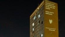 Enfermeiros ganham homenagem projetada em prédio icônico de BH