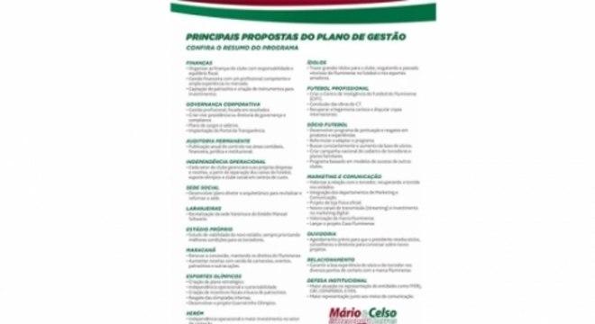 Promessas de campanha Mário Bittencourt - Fluminense
