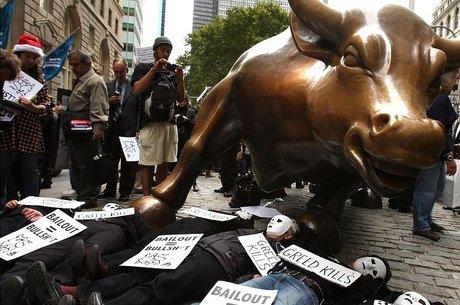 Protestos em Wall Street em 2008: para Mason, capitalismo financeiro é danoso para o próprio capitalismo