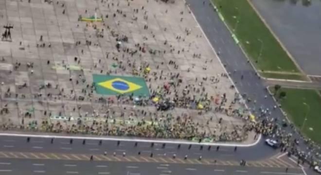 Manifestação neste domingo em Brasília em apoio ao presidente