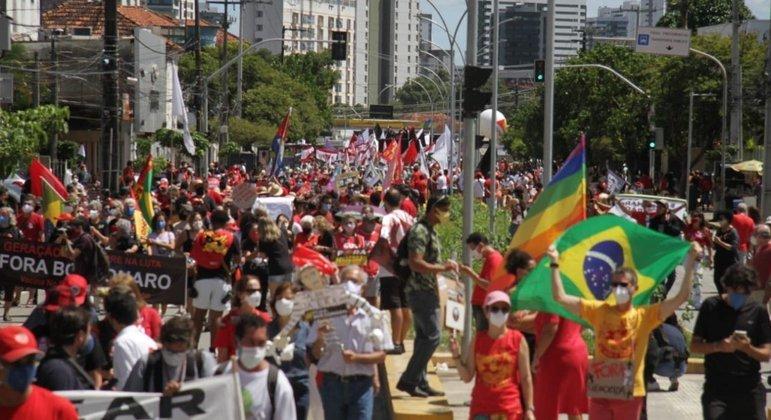 Manifestação em Recife (PE) no bairro do Derby