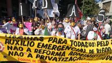 Manifestantes fazem 3º protesto contra o governo em 2 meses