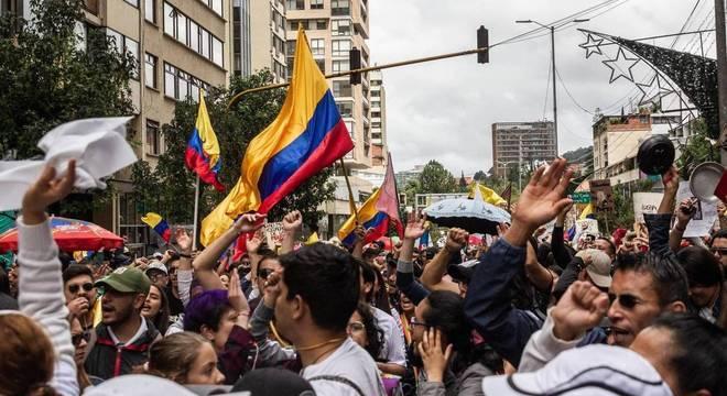 Colômbia não teve um motivo específico para protestar, mas uma escalada de razões