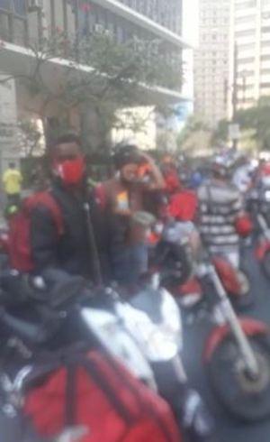 Protesto em frente à Câmara de SP