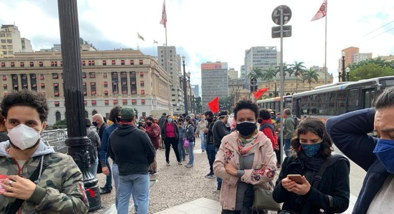 Protesto de professores no centro de SP