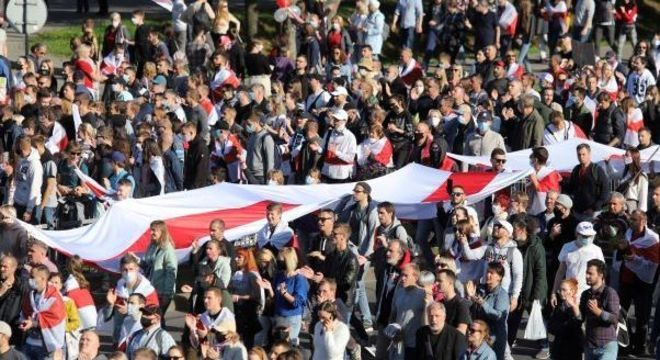 Protesto contra presidente bielorrusso continua