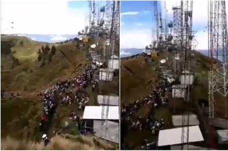 Grupo indígena atacou torres de transmissão