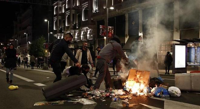 Primeiro-ministro da Espanha condenou atos de vandalismo