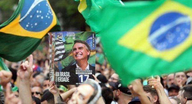 Protesto pró-Bolsonaro antes das eleições; grande número de manifestantes neste domingo mostraria que presidente ainda tem base expressiva