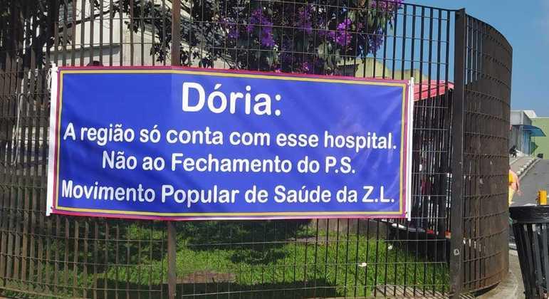 Após anúncio de fechamento do pronto atendimento de hospitais estaduais, houve protesto
