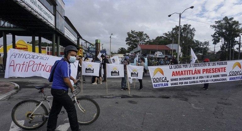 Manifestantes bloquearam diversas estradas na Cidade da Guatemala