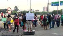 Moradores protestam por moradia e bloqueiam Marginal Tietê (SP)